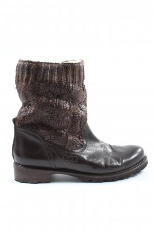 Donna Carolina Slouch Boots brown-black flecked casual look