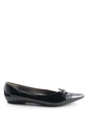 Donna Christina Lackballerinas schwarz Business-Look