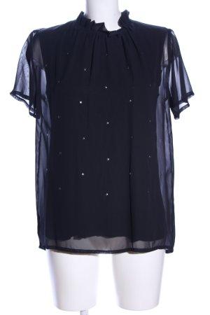 Donna Dura Kurzarm-Bluse schwarz Elegant