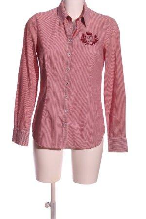 Donna Hemd-Bluse pink Schriftzug gestickt Casual-Look