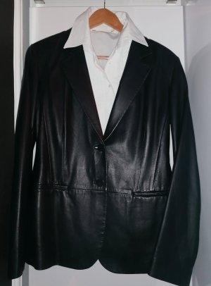 Donna Karan Blazer aus handschuhweichem Leder, schwarz, nie getragen, mit Labeltag