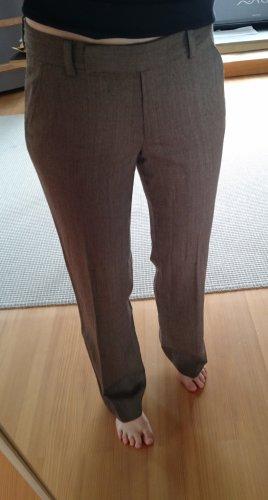 DKNY Pantalone Marlene marrone-grigio Lana