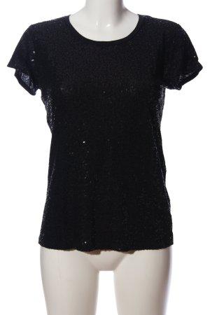 Donna Karan Kurzarm-Bluse schwarz Casual-Look