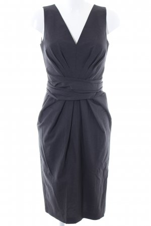 Donna Karan Kurzarmkleid blau Streifenmuster Business-Look