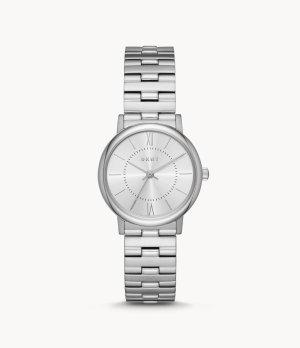 DKNY Reloj con pulsera metálica color plata