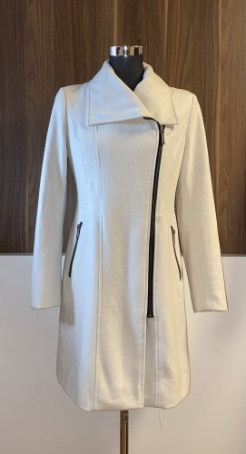 DKNY Cappotto in lana bianco sporco-nero