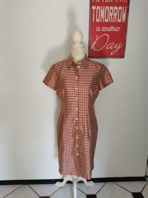 Donna Lane Blouse Dress red-natural white silk
