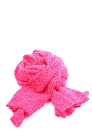 Donna Lane Szalik z kaszmiru różowy Warkoczowy wzór W stylu casual