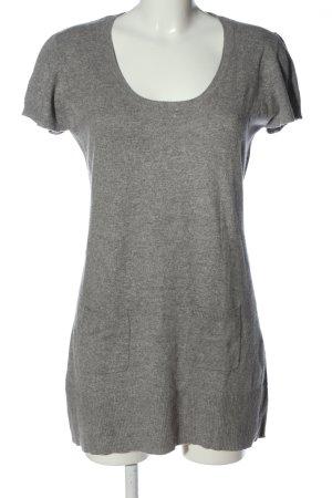 Donna Lane Short Sleeve Sweater light grey flecked casual look