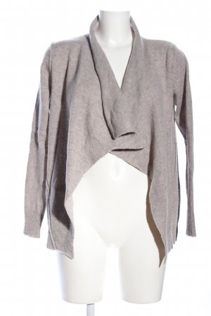Donna Lane Knitted Cardigan light grey flecked casual look
