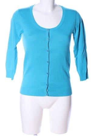 Donna Lane Strickjacke blau Casual-Look