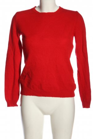 Donna Lane Wollpullover rot Casual-Look
