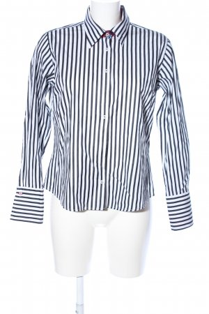 Donna Long Sleeve Shirt white-black allover print business style