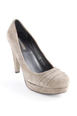 Donna Loka High Heels graubraun schlichter Stil