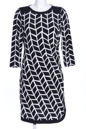 Donna Morgan Langarmkleid schwarz-weiß Allover-Druck Casual-Look