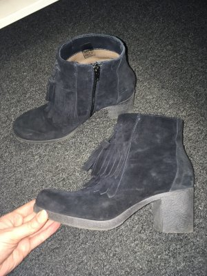 Donna Piu Botines slouch azul oscuro-gris antracita