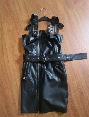 Nakd Vestido de cuero negro