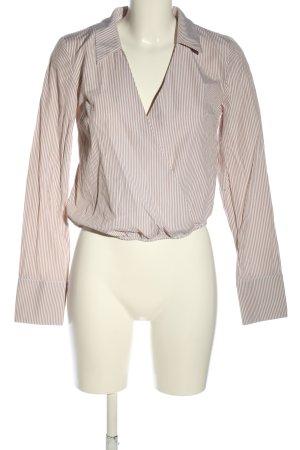 DONNA ROMINA X NA-KD Langarm-Bluse weiß-hellgrau Streifenmuster Business-Look