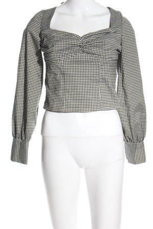 DONNA ROMINA X NA-KD Schlupf-Bluse schwarz-weiß Allover-Druck Business-Look