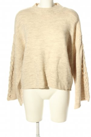 DONNA ROMINA X NA-KD Strickpullover creme-hellgrau meliert Casual-Look