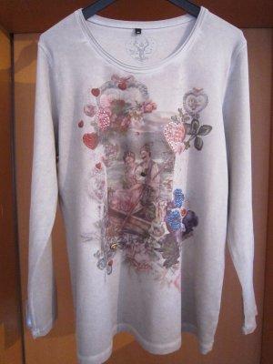 """Donnell Country"" Langarm Shirt, Farbe: braun mit Print, Größe 44"
