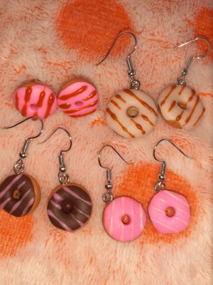 Donuts Ohrringe aus Fimo/Cernit