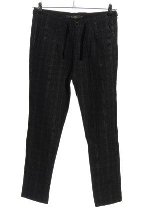 Doo-Wop Wollen broek zwart geruite print casual uitstraling