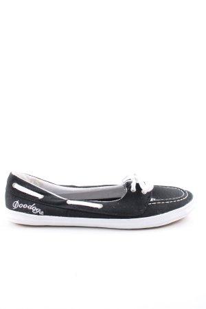 DooDogs Schlüpfsneaker schwarz-weiß Casual-Look