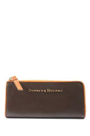 Dooney & Bourke Portefeuille brun-orange clair style décontracté