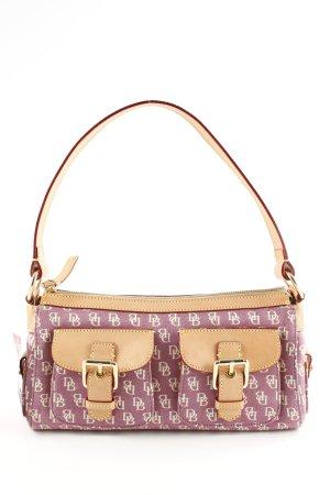 Dooney & Bourke Shoulder Bag lilac-natural white allover print casual look
