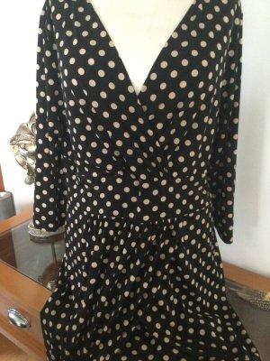 Doots Kleid herrlich figurschmeichlend schwarz/caramel  franco  Callegari  42/44