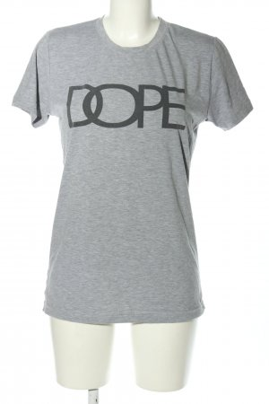 Dope T-Shirt light grey flecked casual look