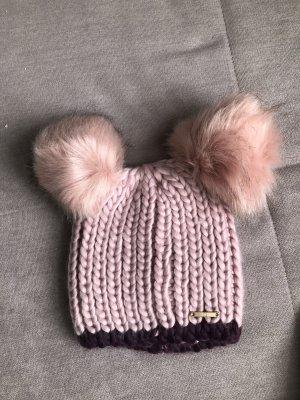 Asos Crochet Cap pink-dark violet