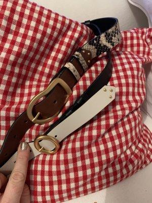 Dorothee Schumacher Cinturón pélvico marrón-blanco puro