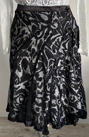 Bandolera Spódnica z koła czarny-biały Bawełna