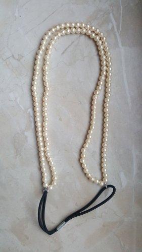 Haarband wit-zwart