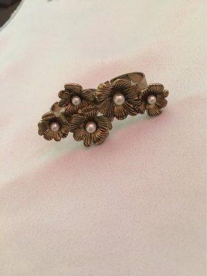 H&M Bague incrustée de pierres bronze