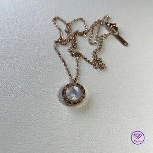 ♈️ Doppelseitige römische Ziffern Halskette und Anhänger