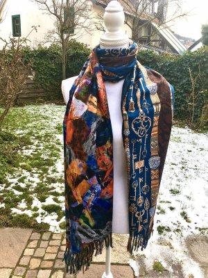 0039 Italy Wollen sjaal veelkleurig Kasjmier