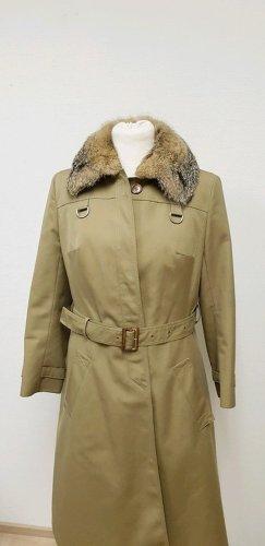 Dore Mantel mit Kunstfell Kragen