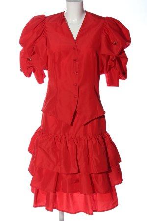 Dorette Twin set in maglia rosso stile casual