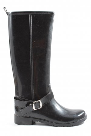 Dori Made in Italy Gumowe buty czarny W stylu casual