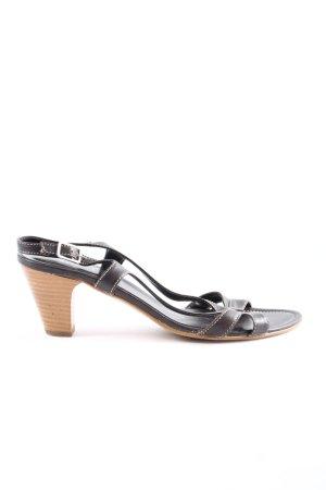 Dori Made in Italy High Heel Sandaletten schwarz-braun Casual-Look