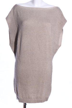 Dori Made in Italy Cardigan long blanc cassé moucheté style décontracté