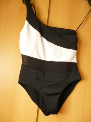 DORINA Badeanzug, neu ohne Etikett, asymmetrisch, edler Look, Gr. 40 Large