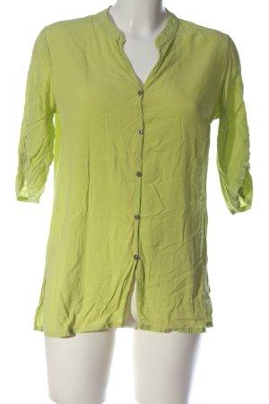 Doris Streich Camicia blusa verde stile casual