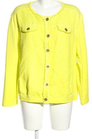 Doris Streich Shirtjacke blassgelb Casual-Look