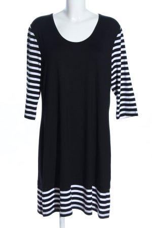 Doris Streich Shirtkleid schwarz-weiß Streifenmuster Casual-Look