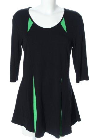 Doris Streich Stretchkleid schwarz-grün Casual-Look