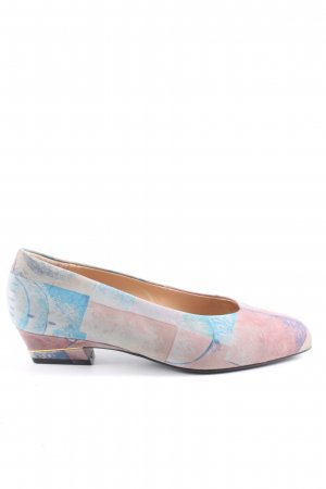 Dorndorf Ballerinas mit Spitze pink-türkis abstraktes Muster Casual-Look